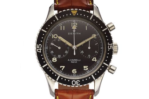 A Zenith watch made for Italian soldiers and sold at an Roman boutique.