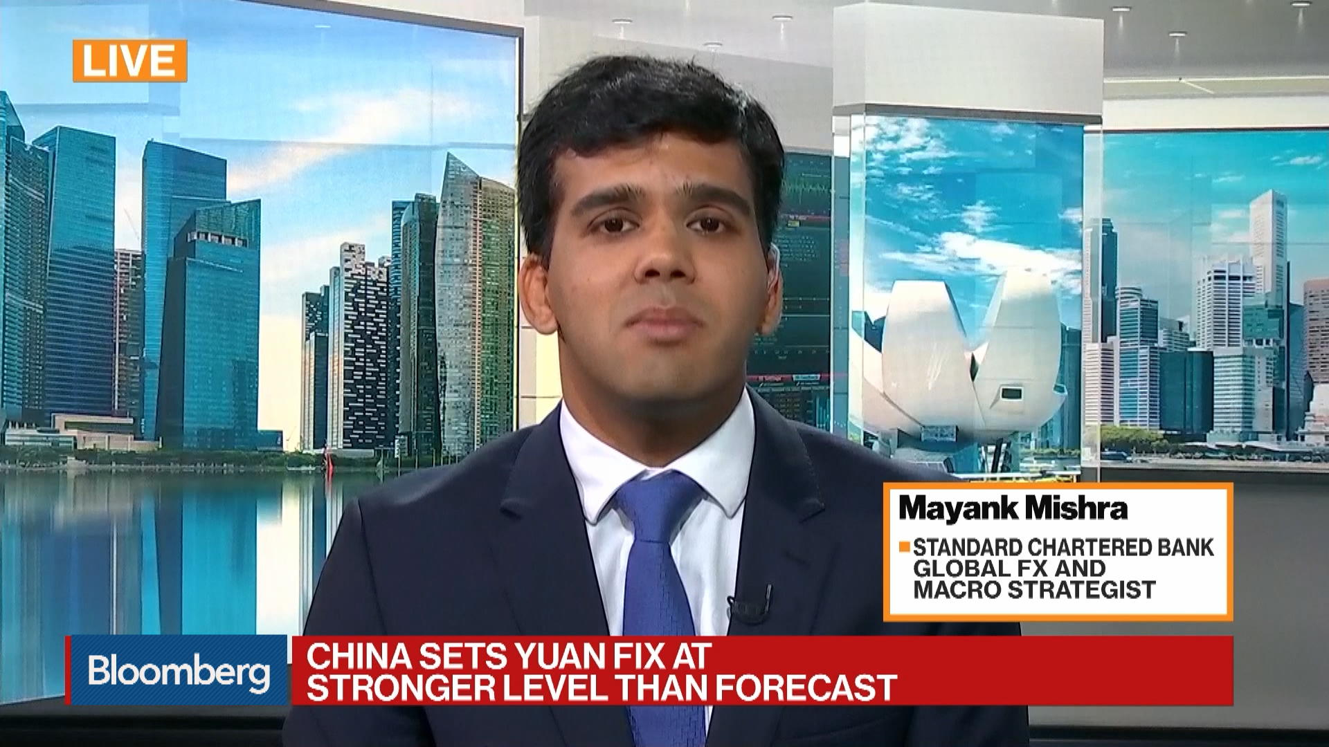 Standard Chartered Global FX and Macro Strategist Mayank Mishra on Yuan Fixing, Asian Currencies
