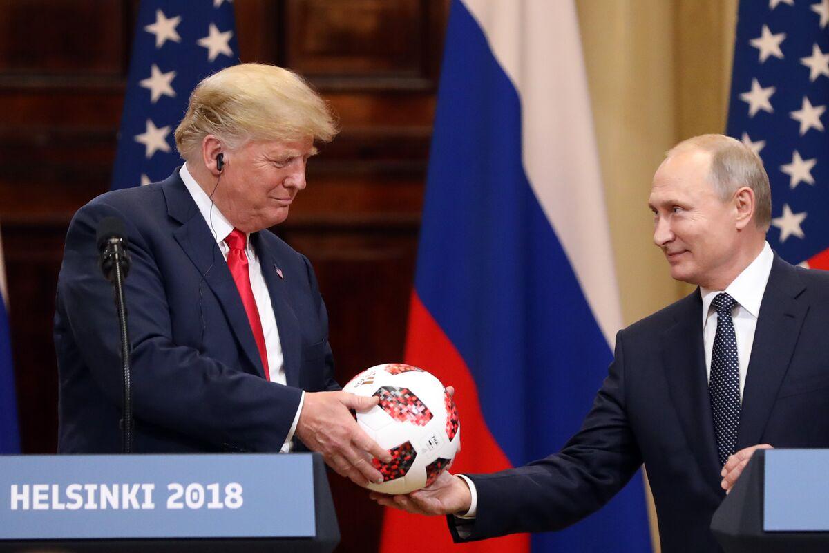 f58447d9c Putin's Soccer Ball for Trump Had Transmitter Chip, Logo Indicates -  Bloomberg