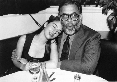 Francis Ford Coppola hugs daughter Sofia at the wrap party for The Godfather: Part III in which she played the role of Michael Corleone's daughter. Much of the family was in involved in the trilogy—his children had cameos, his sister played Connie Corleone, and his father wrote (and won an Oscar for) the score for the second film.