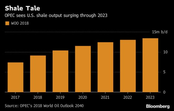 OPEC Expects U.S. Shale to Steal Market Share Until Late-2020s