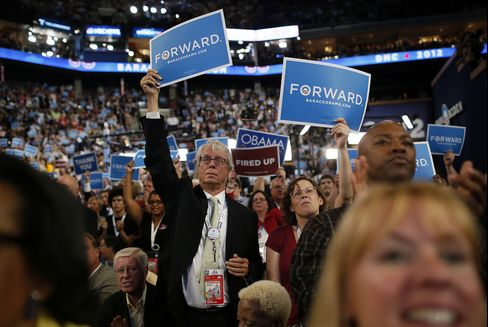 Delegates at the Democratic National Convention