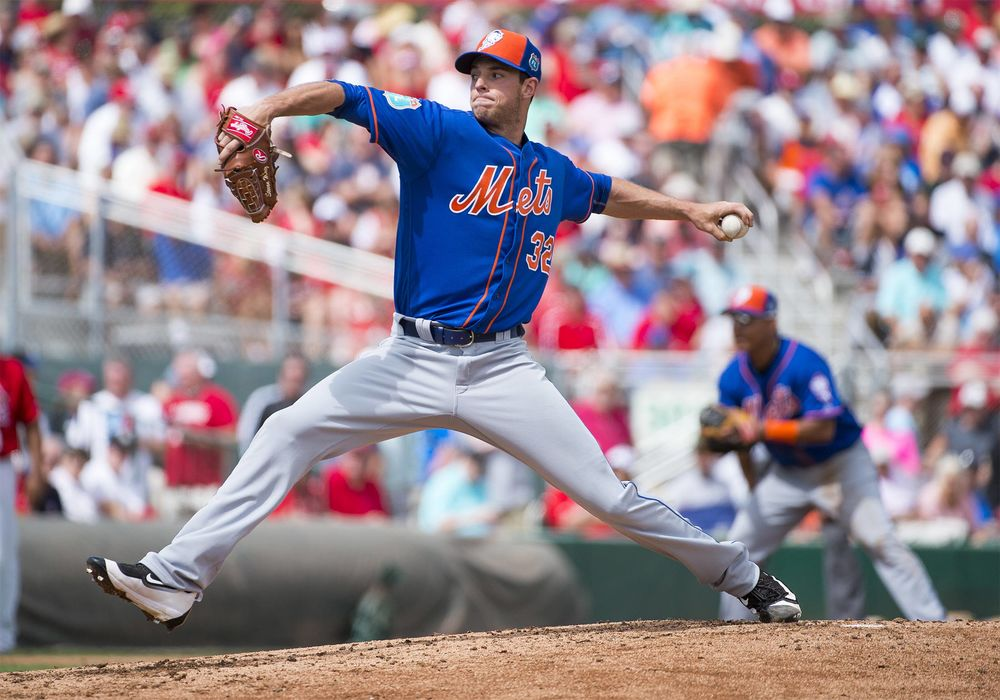 f21de9f8 New York Mets Pitcher Steven Matz throws the ball during a MLB spring  training game.