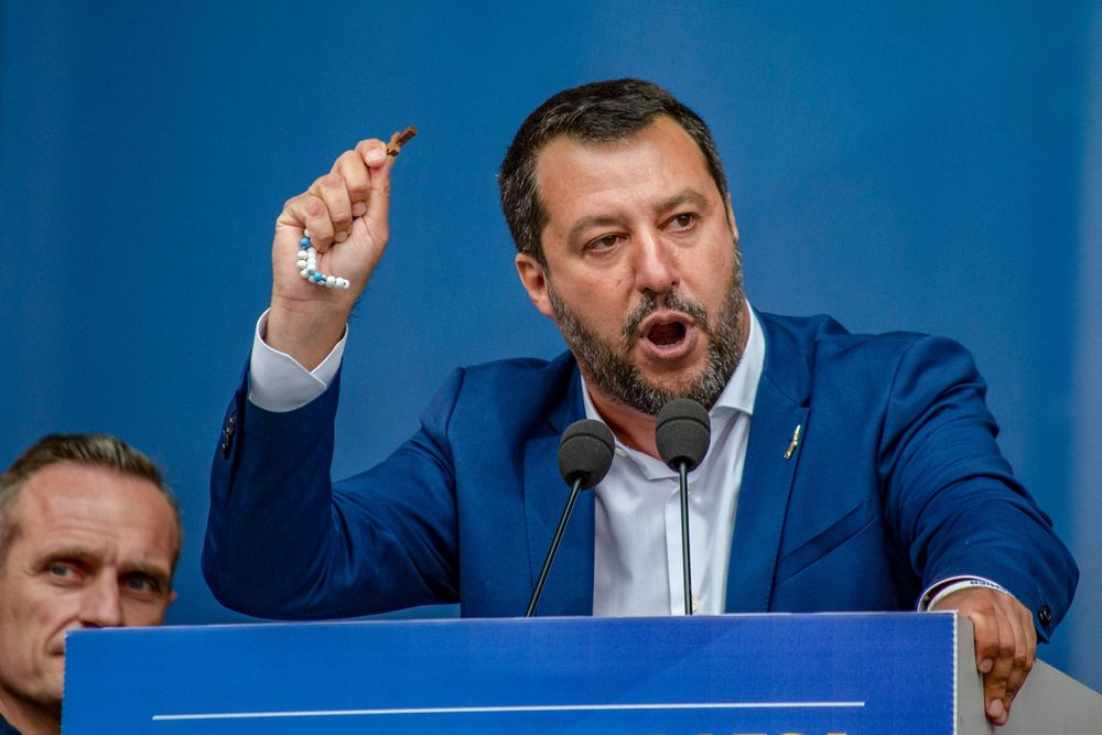 Italy's Salvini Sparks Clash on Security as Election Nears