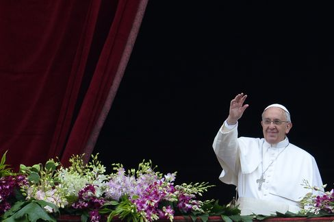 VATICAN-POPE-EASTER-MASS-HOLY WEEK