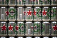 Beer Production Inside A Heineken NV Brewery