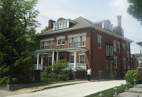 President Barack Obama's personal house in the Kenwood neighborhood of Chicago, Illinois, May 30, 2013.