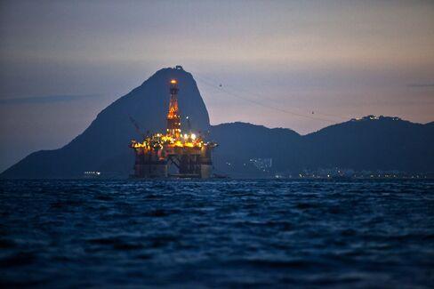 An Oil Platform In Guanabara Bay In Rio de Janeiro