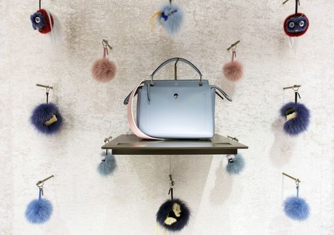 A DotCom Bag, manufactured by Fendi SpA, sits on display for sale at Palazzo Fendi.
