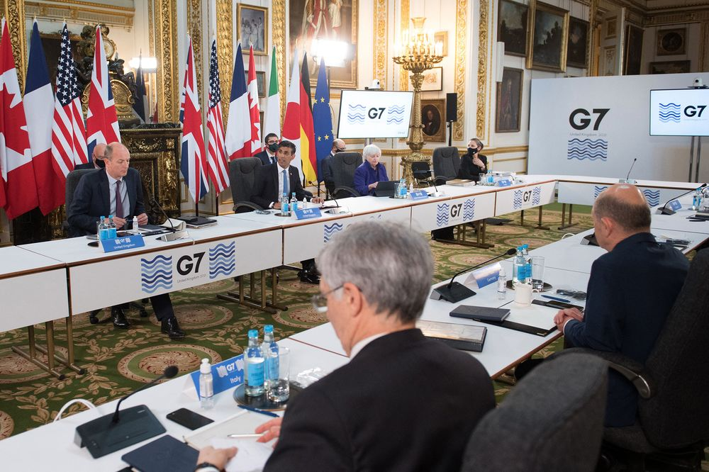 Historic Global Tax Deal Nears as G-7 Seeks Agreement on Tech - Bloomberg