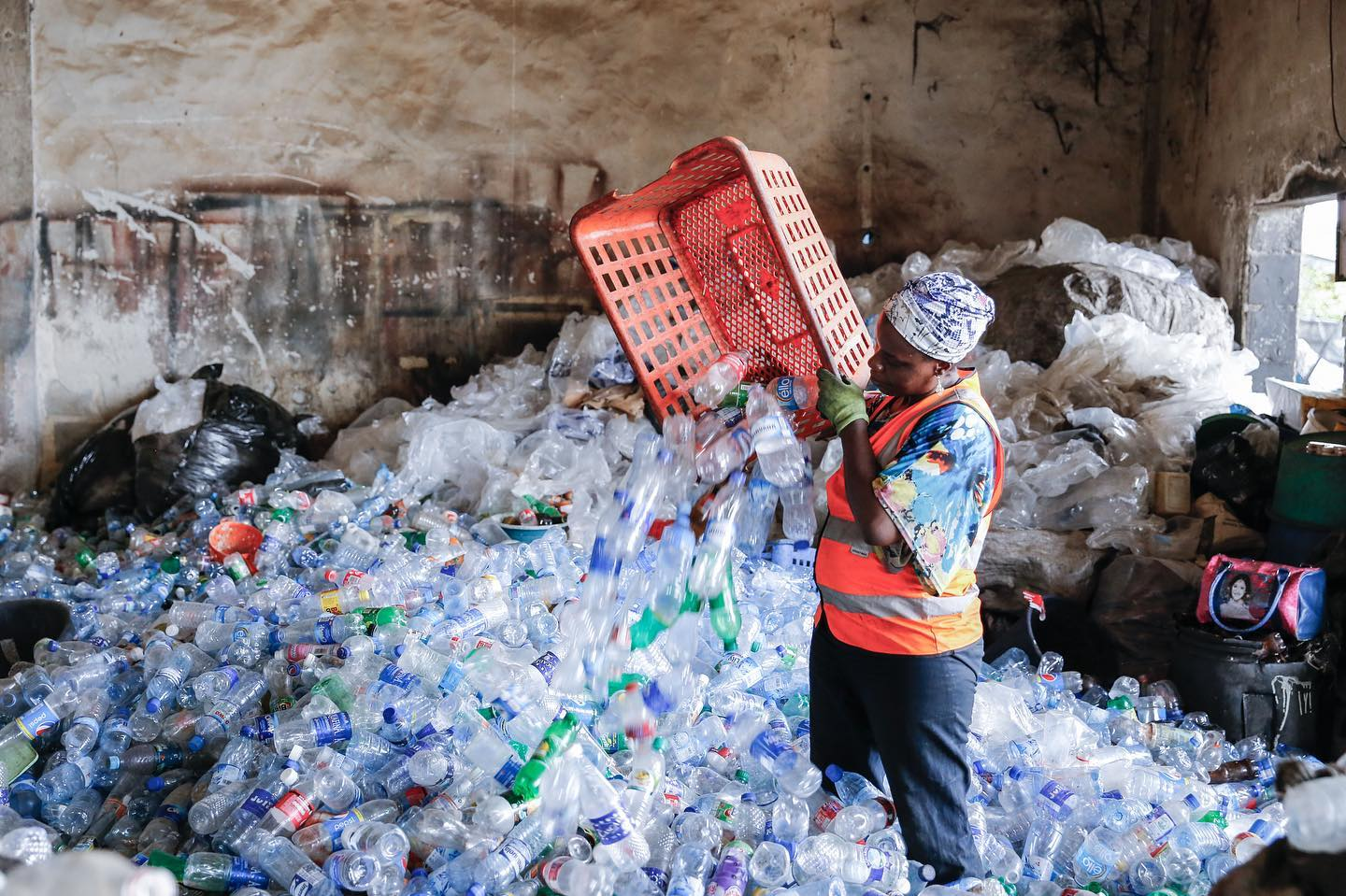 The startup RecycleGO plans to use blockchain to track plastics recycling in Lagos, Nigeria.