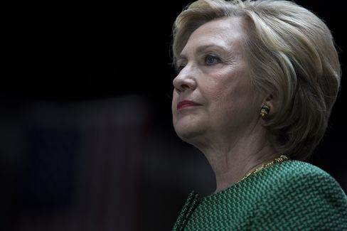 Hillary Clinton, former Secretary of State and 2016 Democratic presidential candidate, waits to speak during an event in Baltimore, Maryland, U.S.