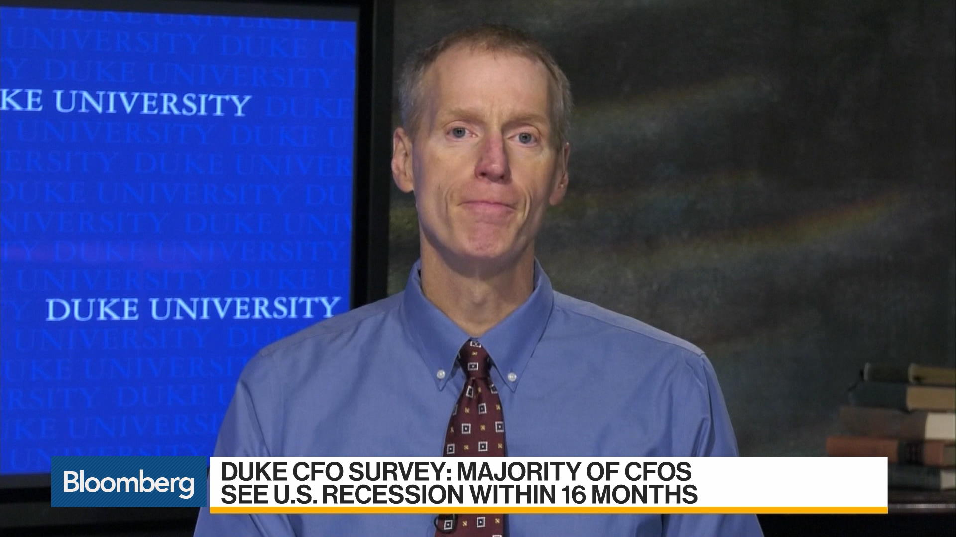 U.S. CFO's Expect a Recession by Late 2020 in Duke University Survey
