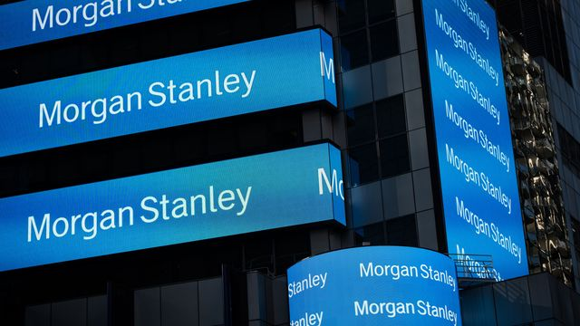 Morgan Stanley shares surge after reporting record revenue for the first-quarter