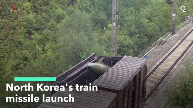 North Korea's Train Missile Launch
