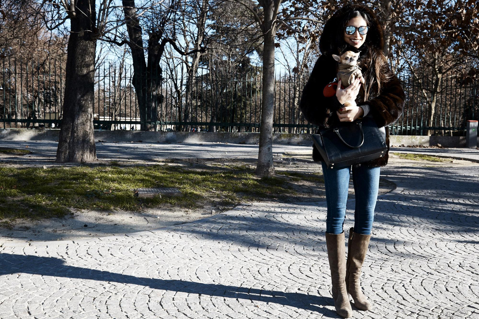 Lucia + Marlene, the Chihuahua