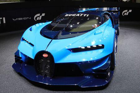 The Bugatti Vision Gran Turismo at the Frankfurt Motor Show in 2015.
