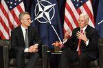 Pence speaks with NATO Secretary General Jens Stoltenberg Saturday.