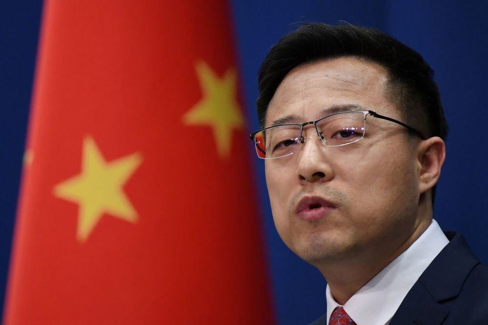 Chinese Foreign Ministry spokesman Zhao Lijian.