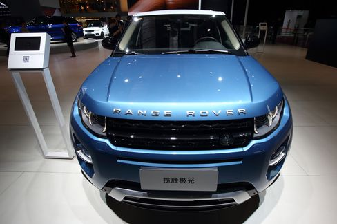 The Range Rover Evoque sports utility vehicle is displayed at Auto Shanghai 2015. Photographer: Tomohiro Ohsumi/Bloomberg