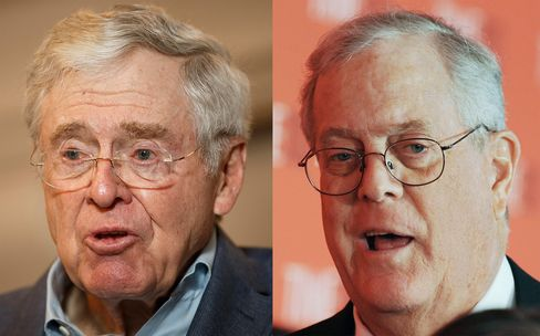 The koch brothers could walk away with madoff cash bloomberg for Charles und david koch