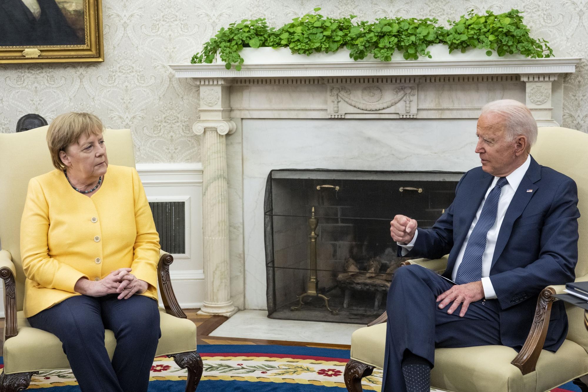 El presidente Biden recibe a la canciller alemana Merkel en la Casa Blanca