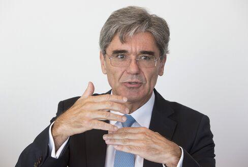 Siemens Chief Executive Officer Joe Kaeser