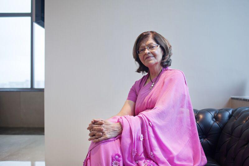 Portraits of Kalpana Morparia CEO for South and SE Asia at JPMorgan