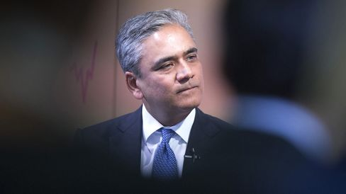 Anshu Jain during the Bloomberg Markets Most Influential Summit, on Oct. 6.