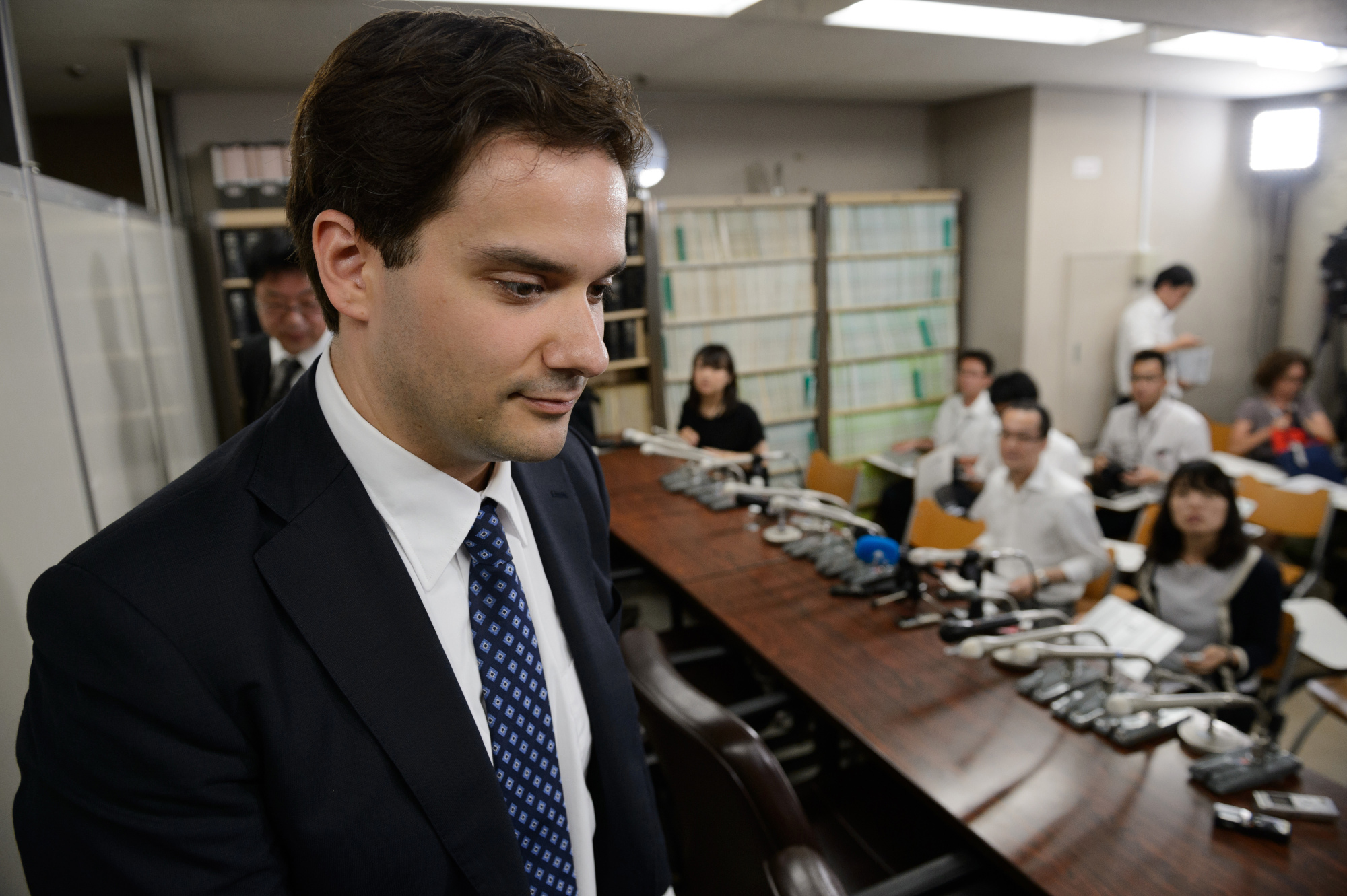 Mark Karpeles following a news conference in Tokyo, July 11, 2017.
