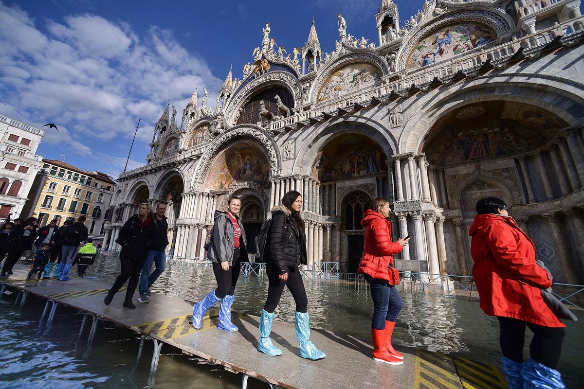 Venice Inundated by Historic Flooding: In Pictures