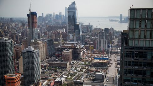 The Hudson Yards neighborhood of New York.