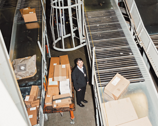 Abell at the Worldport facility in Louisville, where UPS will sort 3.6 million packages on its busiest day, Dec. 23