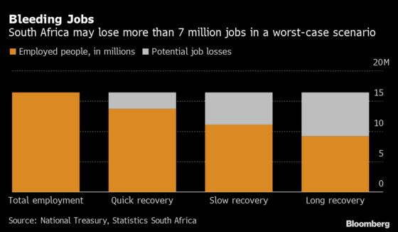 South African Government's Assessment of Virus Damage in Charts