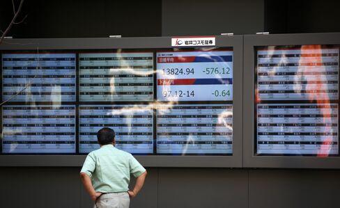 Asia Stocks Rise for Fourth Day as Japan's Topix Advances on Yen