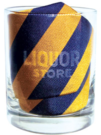 J.Crew sold ties packaged in lowball glasses at the Liquor Store
