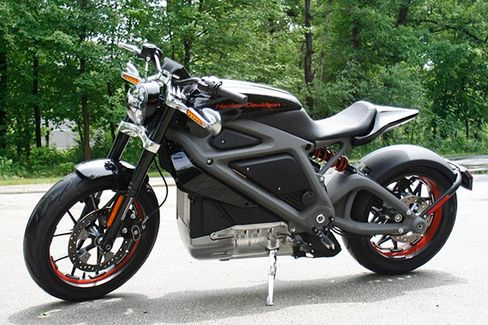 Harley-Davidson's new electric motorcycle at the company's research facility in Wauwatosa, Wis. on June 18