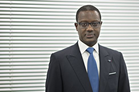 Tidjane Thiam at the bank's headquarters on Feb. 4.