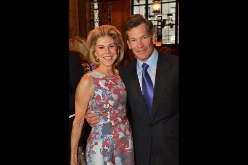 Frances Beatty Adler, president of Richard L. Feigen & Co. and Louis Bacon, founder of Moore Capital Management. Photographer: Amanda Gordon/Bloomberg