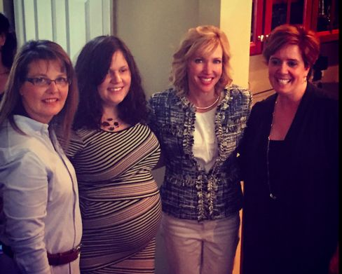 Kelley Paul (second from right), wife of Republican presidential candidate Rand Paul, attends a women's event in New Hampshire on April 15, 2015.
