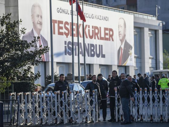 Erdogan's Party Decks Istanbul With Victory Banners After Loss