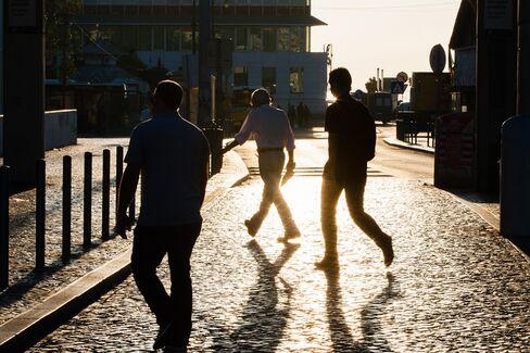 Commuters in Lisbon