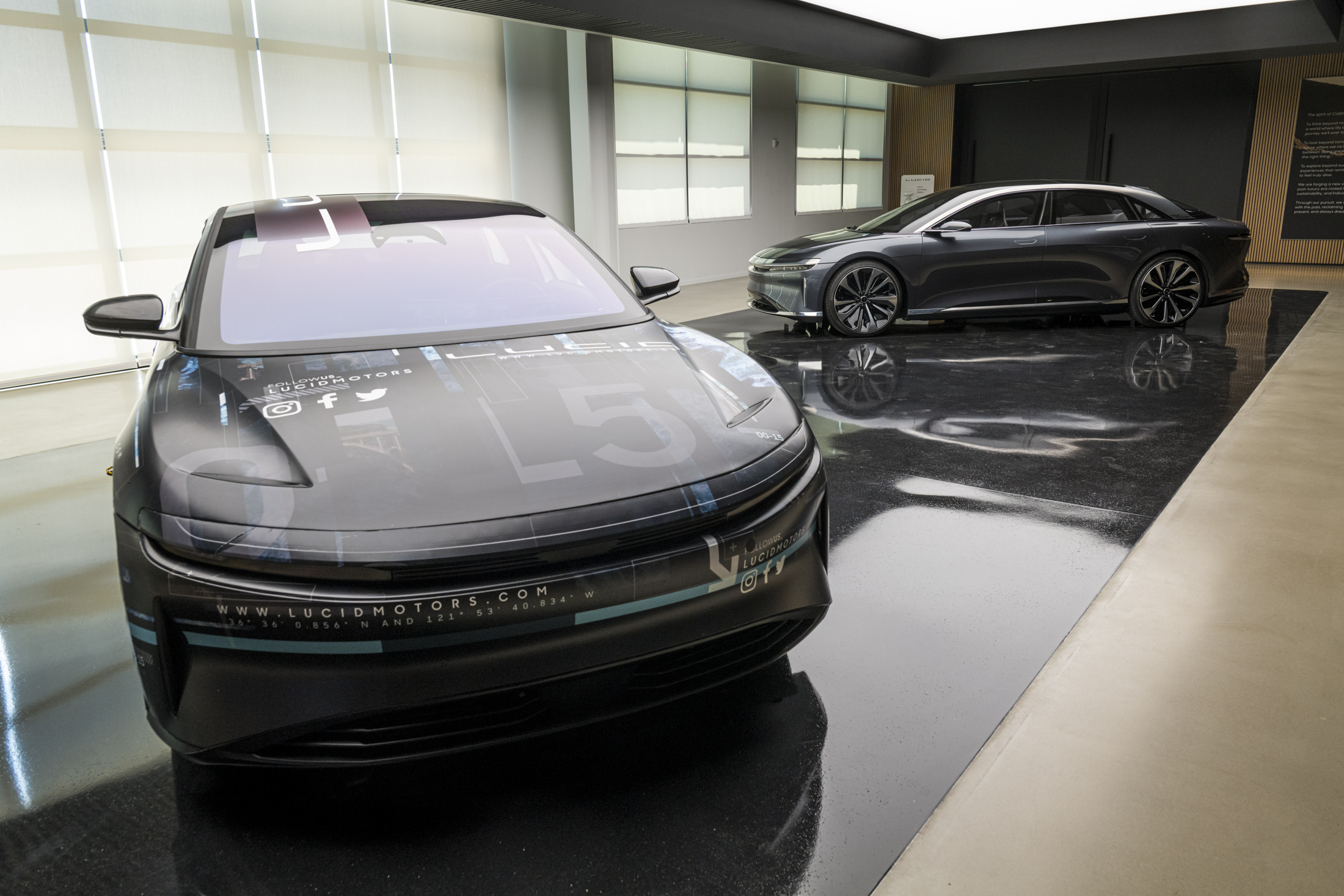 Lucid Air electric vehicles