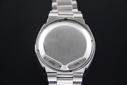 From the back, you'd never know this is an unusual watch.