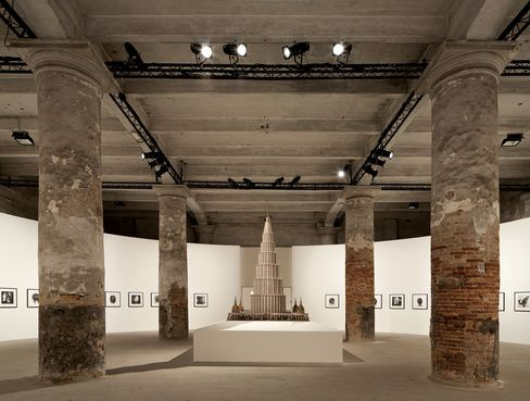 A gallery at the Arsenale in Venice.