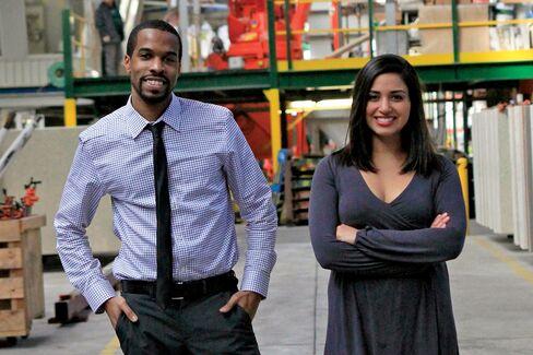 Maker's Row co-founders Matthew Burnett and Tanya Menendez