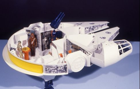 The original Millennium Falcon toy from 1977.