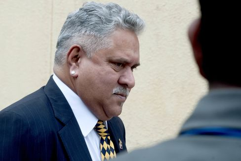 Indian chairman of Kingfisher Airlines Limited, Vijay Mallya arrives for AGM
