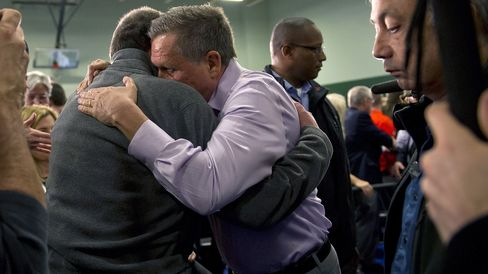 Republican presidential candidate John Kasich greets supporters on March 13, 2016, in Strongsville, Ohio.