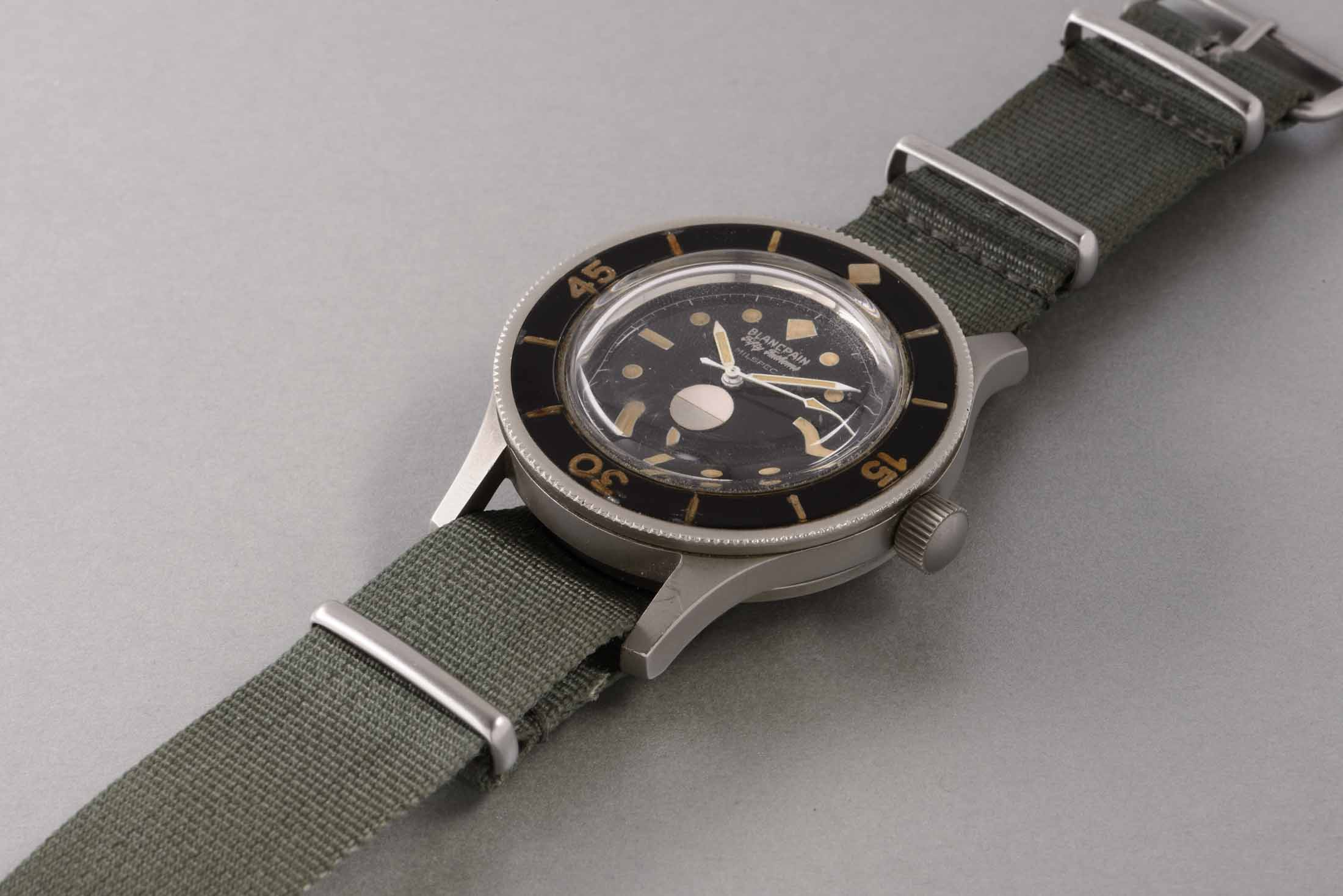 Blancpain Steel Prototype 'Milspec 1' Wristwatch with Center Seconds and Humidity Indicator